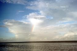 wolken und regenbogen