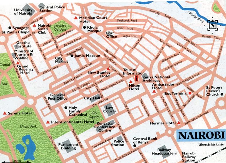 Kenyade Kenya Nairobi map